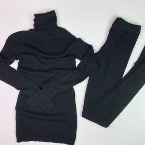 tsesay Soft Wool Leggings and Turtle Neck Sweater